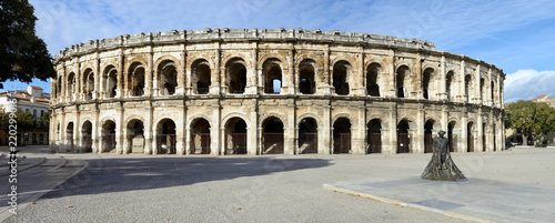Spoed Foto op Canvas Theater Roman Amphitheater (Les Arenes), Nimes, France