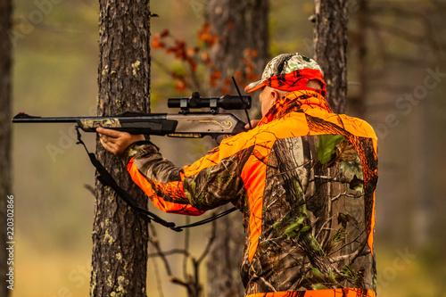 Obraz na płótnie Hunter in the wilderness seeking prey