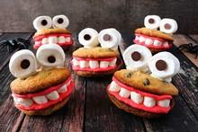 Group Of Fun Halloween Monster...