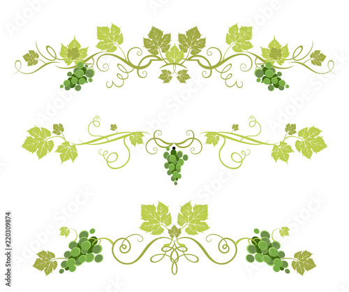 Canvas-taulu Green grape decor