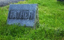Very Old Mold Covered Headstone In A Cemetery Father Mother