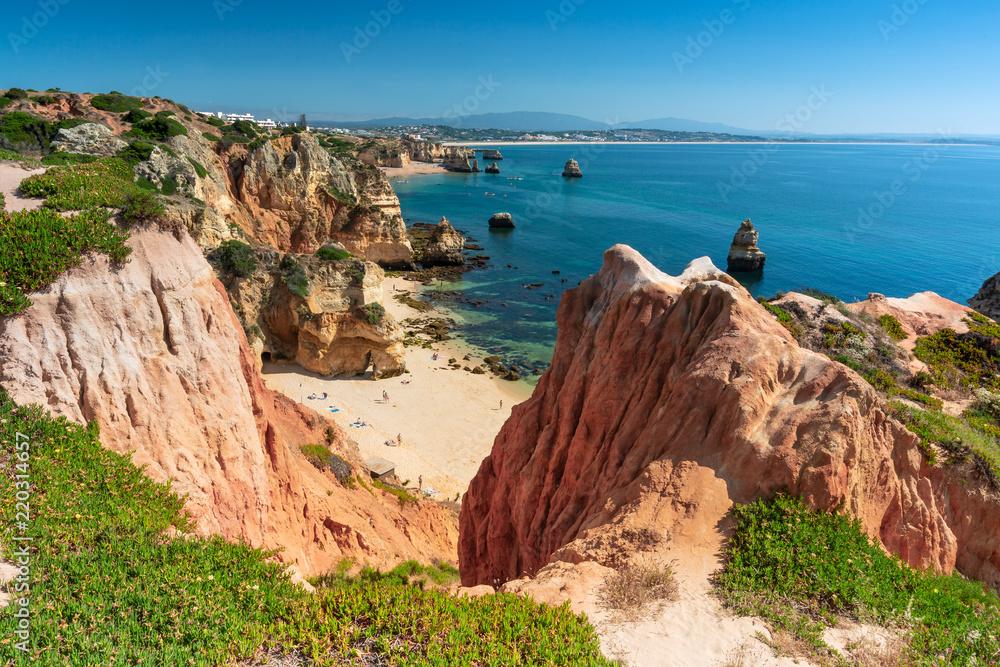 Portugal Algarve Karta.Fotografie Obraz Plage Camilo Lagos Algarve Portugal Posters Cz