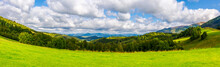 Panorama Of Green Alpine Meado...