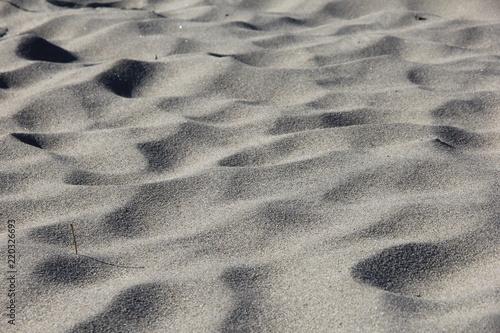 風紋の付いた一面の砂(宮城県)