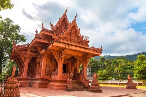 Spoed Foto op Canvas Bedehuis Red Temple on Samui