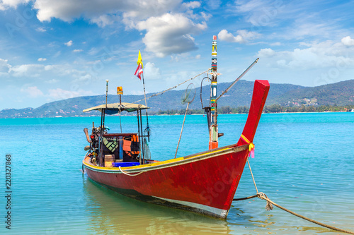 In de dag Asia land Fishing Boat on Samui