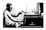 Pianista jazzowy w Nowym Jorku - 220330608