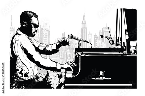 Jazz pianist in New York