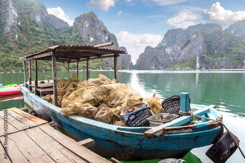 Fotografie, Obraz  Pearl farm in Halong bay, Vietnam