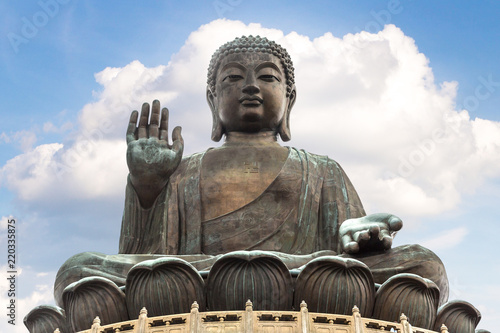 Canvas Prints Asian Famous Place Giant Buddha in Hong Kong