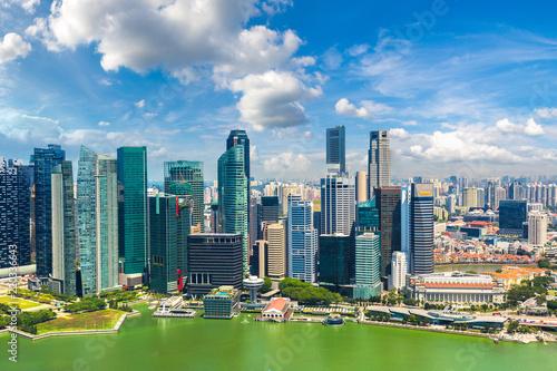 Panoramic view of Singapore Wallpaper Mural