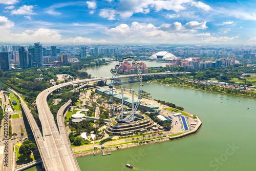 Staande foto Aziatische Plekken Panoramic view of Singapore