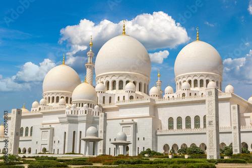 Montage in der Fensternische Mittlerer Osten Sheikh Zayed Grand Mosque in Abu Dhabi