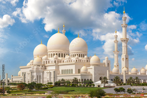 Spoed Foto op Canvas Abu Dhabi Sheikh Zayed Grand Mosque in Abu Dhabi