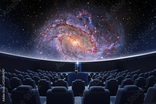 Photo A spectacular fulldome digital projection of galaxy at the planetarium