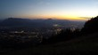 Time Lapse: Sunset over Salzburg in Austria, seen from Mt. Gaisberg