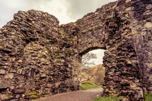 Remnants Of Inverlochy Castle In The Highlands Of Scotland