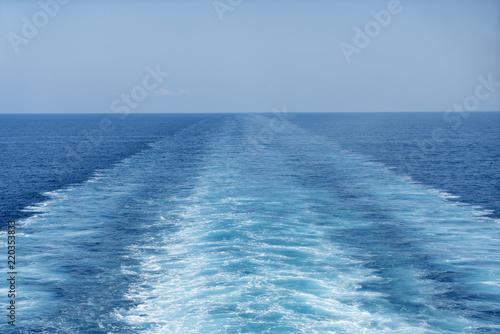 Fotografie, Obraz  Scia dei motori della nave