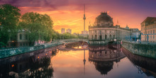 Museum Island On Spree River Of Berlin, Germany