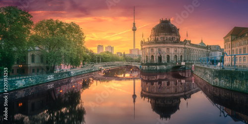 Museum island on Spree river of Berlin, Germany Canvas Print