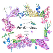 Vector Vintage Floral Greeting...