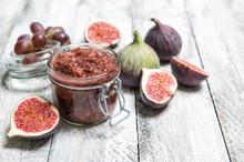 Figs Jam In Jar Fruit Marmalade