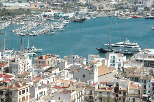 Fototapety, obrazy: Ibiza harbour, Baléares island, Spain