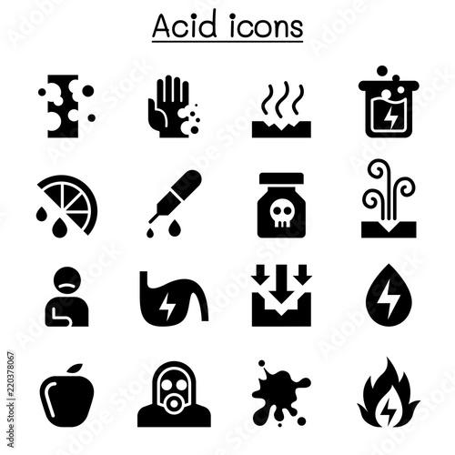 Canvas Print Acid icon set
