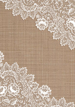 Old Lace Corner On  Cloth Background