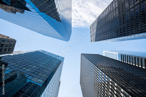 Foto op Aluminium New York City Wolkenkratzer in New York City, USA