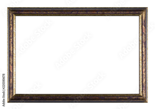 Photo Bemalter Bilderrahmen aus Holz mit weißem Hintergrund