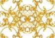 canvas print picture - Golden baroque decorative composition