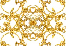 Golden Baroque Decorative Comp...