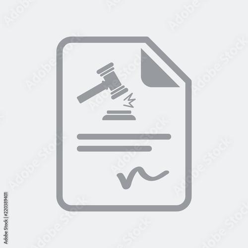 Fotografia  Judgment sentence document icon