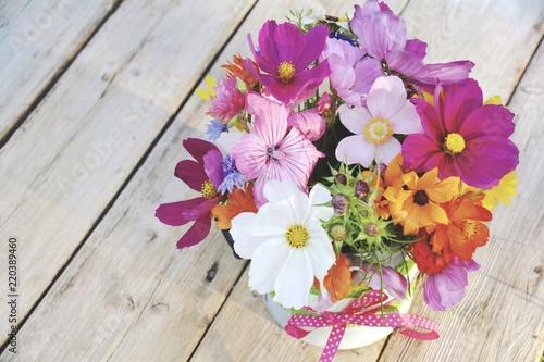 Grußkarte - Wildblumen Blumenstrauß Canvas Print