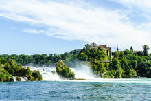 Rhine Falls In Switzerland.