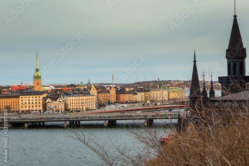 Staande foto Stockholm Stockholm city scape old city