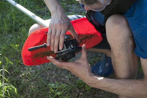 Photo  Repair of the mower
