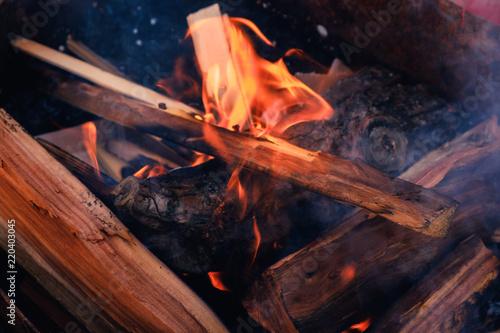 Valokuvatapetti Pile of wood cut for fireplace