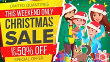 Christmas Sale Banner Vector. Special Offer Sale Banner. Background. Illustration