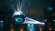 Night Club Mirror Ball rotates, music ball