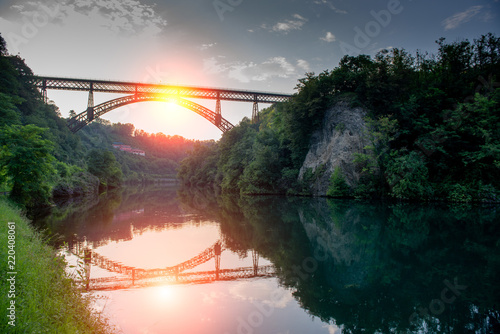 Photo paderno d'adda bridge