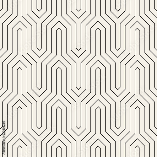 Door stickers Pattern Vector seamless pattern. Modern stylish abstract texture. Repeating geometric tiles..