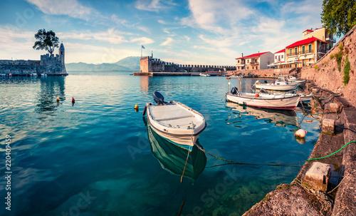 Fotografie, Obraz Colorful spring view of the Nafpaktos port