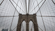 Brooklyn bridge, New York City, detail from the ropes, architecture