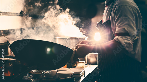 Fotografia Dramatic with cooking