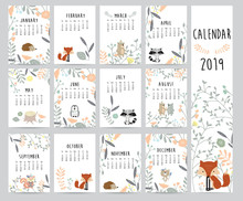 Chic Monthly Calendar 2019 Wit...