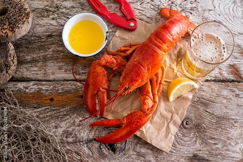 Atlantic Lobster Dinner Canvas