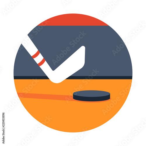 Fotografiet  Hockey flat illustration