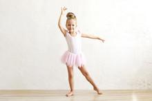 Little Blonde Balerina Girl Da...